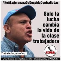 Jose Bodas Gewerkschaft der Ölarbeiter mit Entlassung bedroht