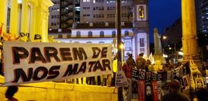Protest gegen den neuerlichen Kindsmord der Militärpolizei in Rio am 23.9.2019
