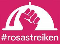 #rosastreiken der Foodora-FahrerInnen in Oslo