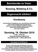 """6. Konferenz """"Betriebsräte im Visier"""" am 19.10.19 im Mannheimer Gewerkschaftshaus"""