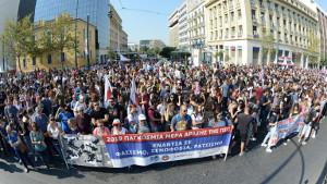 Der zweite Streik in Griechenland innerhalb einer Woche, hier am 2.10.2019 in Athen gegen die neoliberalen Pläne der neuen Rechtsregierung