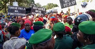 Massenproteste gegen Verfassungsänderung in guinea Oktober 2019