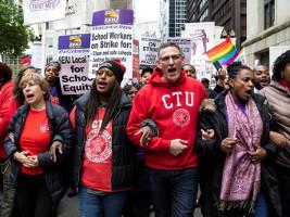 Seit dem 17.10.2019 im Streik für eine soziale Stadt: Die LehrerInnen von Chicago