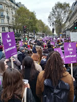 Demo gegen Frauenunterdrückung am 23. November 19 in Paris