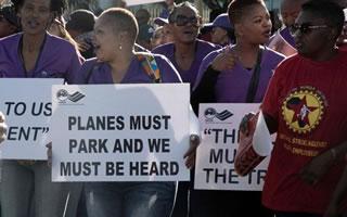 Der Streik bei der südafrikanischen Fluggesellschaft SAA