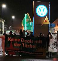 Protest in Braunschweig: Kein neues VW-Werk in der Türkei (ANF)