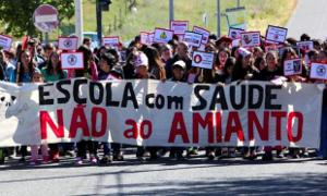 Erfolgreicher Streik gegen Asbest in Portugal im November 2019