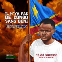 Plakat füreine weitere Protestdemonstration im Kongo, nachdem die UNO und die armee auf Menschen geschossen hatten