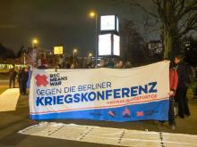 Die Aktion gegen die sogenannte Sicherheitskonferenz in berlin am 26.11.2019