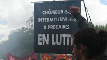 Frankeich: Chômeurs en lutte