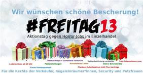 13. Dezember 2019: Schwarzer Freitag für den Einzelhandel: Gegen Lohndumping und Union Busting im Einzelhandel