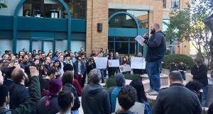 Über 200 protestieren am 22.11.2019 in San Francisco gegen Googles politische Entlassungsversuche