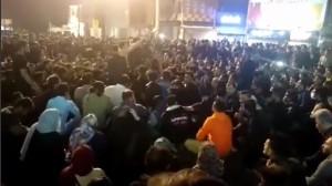 Proteste gegen Preiserhöhung im Iran ab 15.11.2019 - keineswegs nur militante Konfrontationen, hier eine der zahlreichen friedlichen Proteste in Teheran...