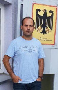 Mrat Akgül im November 2019 in Nürnberg im Hungerstreik gegen seine Auslieferung an Erdogan