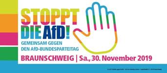 Stoppt die AfD! Gemeinsam gegen den AfD-Bundesparteitag in Braunschweig am 30.11.2019