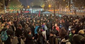 Protestdemo in Paris nach Selbstverbrennungsversuch am 12.11.2019