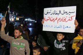 Demonstration unter Belagerung: Gegen die fundamentalistischen Milizen in Idlib, Syrien am 7.11.2019
