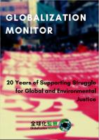 Cover der Broschüre zu 20 Jahren Globalization Monitor in Hongkong