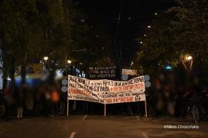 Demonstration gegen Räumung in Athen vom 5. Dezember 2019