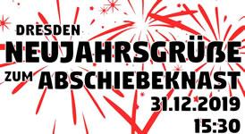 31.12.19 in Dresden: Neujahrsgrüße zum Abschiebeknast