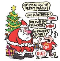 """CGT in FRankreich zum Einwand: """"Aber man streikt doch nicht an Weihnachten"""""""