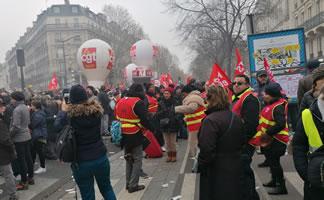 Demo in Paris am 5.12.2019 - Foto von Bernard Schmid