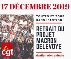 CGT-Aufruf zum Generalstreik in Frankreich am 17. Dezember 2019