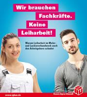 Broschüre der IG BAU zur Leiharbeit im Maler- und Lackiererhandwerk