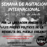 13. bis 19. Januar 2020: Internationale Woche der Solidarität mit den politischen Gefangenen in Chile
