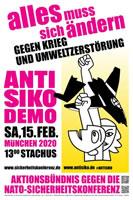 """Proteste gegen die """"Münchner Sicherheitskonferenz"""" 2020: Antikriegs-Kongress am 1. Februar und Demo am 15. Februar"""