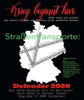 """[""""Defender 2020] Das größte NATO-Manöver der letzten Jahrzehnte trifft auf Protest"""