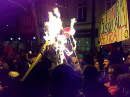 Paris am Abend des Donnerstag, 23. Januar 20 : Nachtwanderungs-Demo. Foto: Bernard Schmid