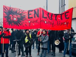 """Auf der Pariser Demo gegen die Renten""""reform"""" am 24. Januar 2020"""