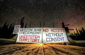 Barrikade an der Brücke: Im Kampf gegen eine kanadische Pipeline durch indigenes Gebiet