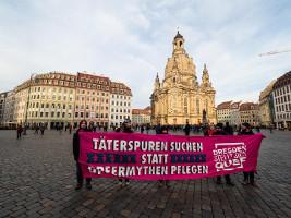 """Seit 2011 Mahngan in Dresden - gegen die Propaganda einer """"unschuldigen Stadt""""...."""