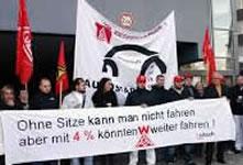 Massiver Stellenabbau bei VW-Tochter SITECH Sitztechnik GmbH in Hannover geplant - Protest der IG Metall