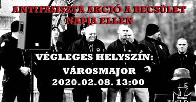 """Antifaschistischer Widerstand gegen den den neonazistischen """"Tag der Ehre"""" am 8.2.2020 in Ungarn"""