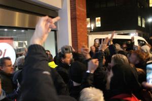 Blockadeaktion bei AfD Neujahr in Münster am 7.2.2020
