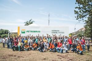Brasilianische Ölarbeiter - hier in Minas Gerais - im Streik gegen Privatisierung ab 1.2.2020
