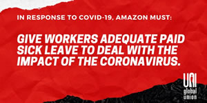 UNI forder Arbeitsschutz vor Corona-Virus von Amazon