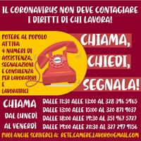 """Potere al Popolo schaltet ein """"rotes Telefon"""" zum Sicherheits- und Gesundheitsschutz für die Arbeiter*innen in Italien"""