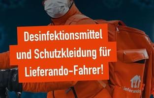 [Petition] Desinfektionsmittel, Schutzkleidung und bessere Arbeitsbedingungen für Lieferando-Fahrer! [Und Betriebsratswahlen]