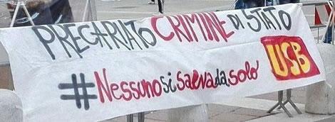 Gewerkschaft Unione Sindacale di Base (USB) in Italien gegen Prekarisierung durch die Corona-Krise