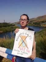 Die Proteste gegen das geplante Goldbergwerk in Armenien finden nicht nur in der Hauptstadt, sondern auch am betroffenen See statt...