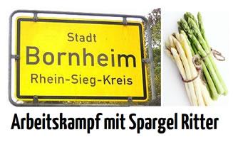 [FAU Düsseldorf] Erntehelfer bei Spargel Ritter in Bornheim protestieren gegen Missstände