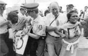 Polizeireaktion auf Abrogine-Demonstration gegen Polizegewalt in Australien 2006