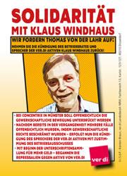 Concentrix in Münster kündigt Betriebsratsmitglied: Solidarität mit Klaus Windhaus