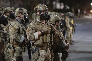 Besatzungstruppen in Portland Juli 2020