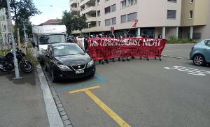 Abschlussdemonstration in Zürich am 11. Juli 2020 nach vielen antikapitalistischen Aktionen