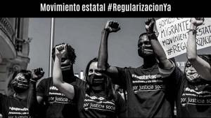 Mobilisierung für den Aktionstag zur Regularisierung Papierloser in Spanien am 19. Juli 2020